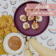 Banane mit Mandelmus Rezept veganer Snack