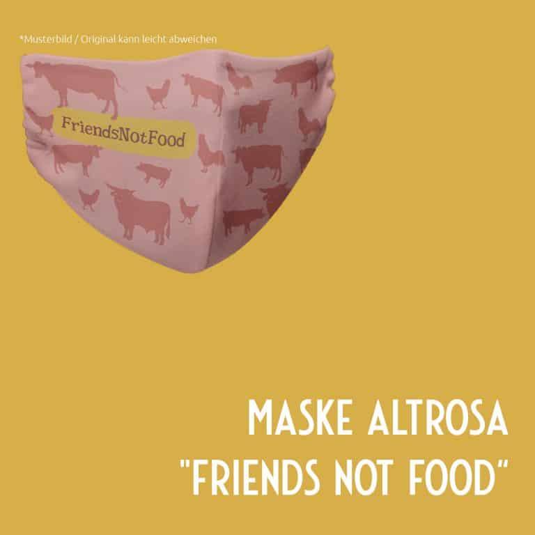 friends not food veganer Mundschutz